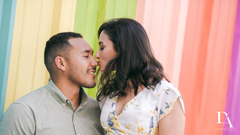 natural photos at Romantic Engagement Session at Graffiti Walls by Domino Arts Photography