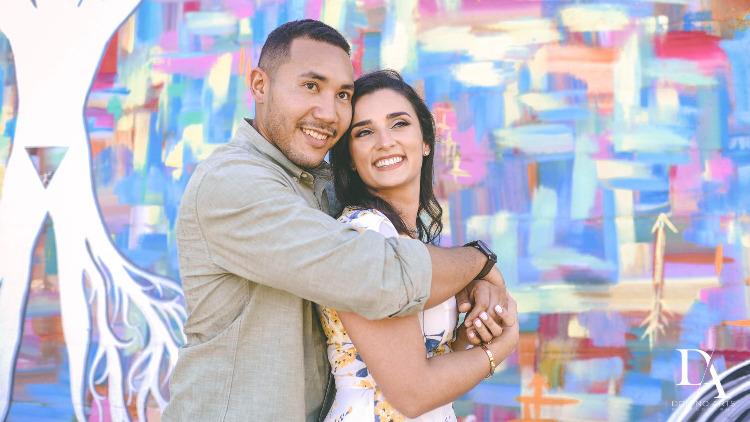photojournalistic Romantic Engagement Session at Graffiti Walls by Domino Arts Photography
