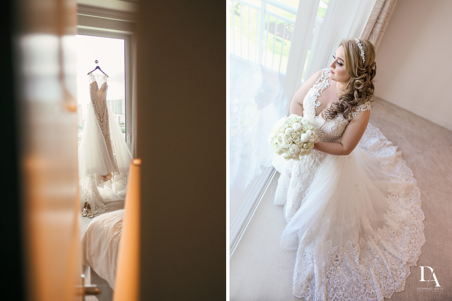 bride getting ready at Ultimate Events Wedding at Turnberry Isle Resort Miami by Domino Arts Photography
