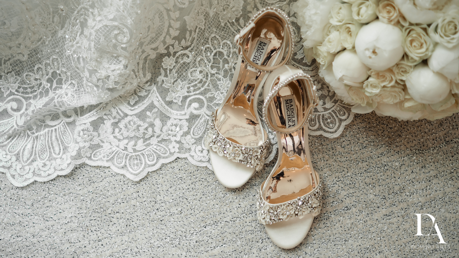 bride shoes at Ultimate Events Wedding at Turnberry Isle Resort Miami by Domino Arts Photography