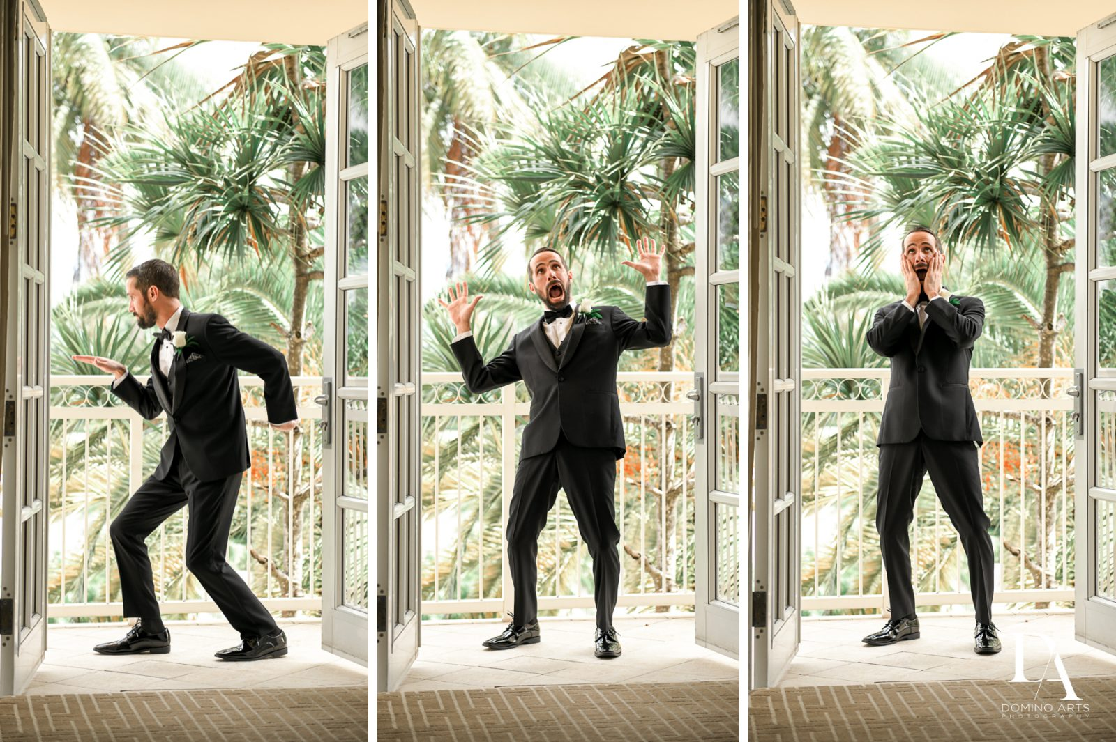 fun groom at Ultimate Events Wedding at Turnberry Isle Resort Miami by Domino Arts Photography
