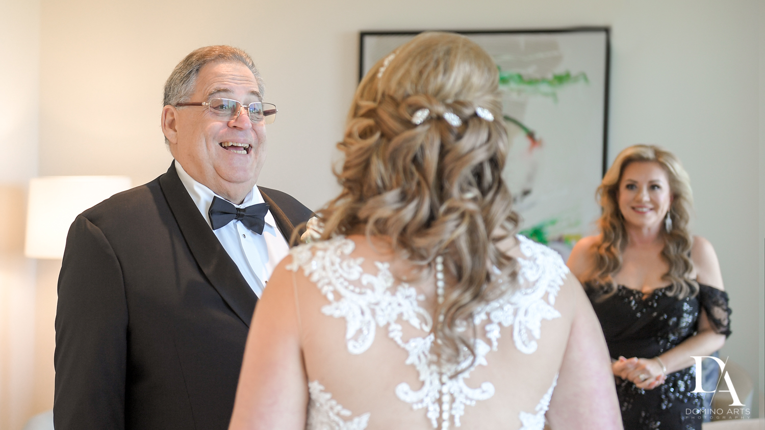 bride and dad at Ultimate Events Wedding at Turnberry Isle Resort Miami by Domino Arts Photography