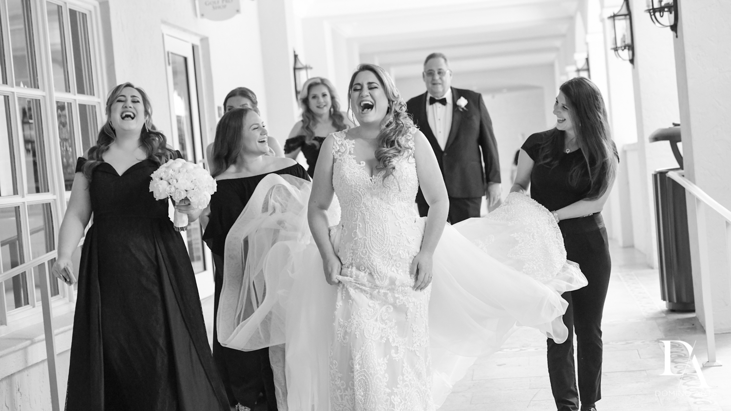 B&W photo journalistic pictures at Ultimate Events Wedding at Turnberry Isle Resort Miami by Domino Arts Photography