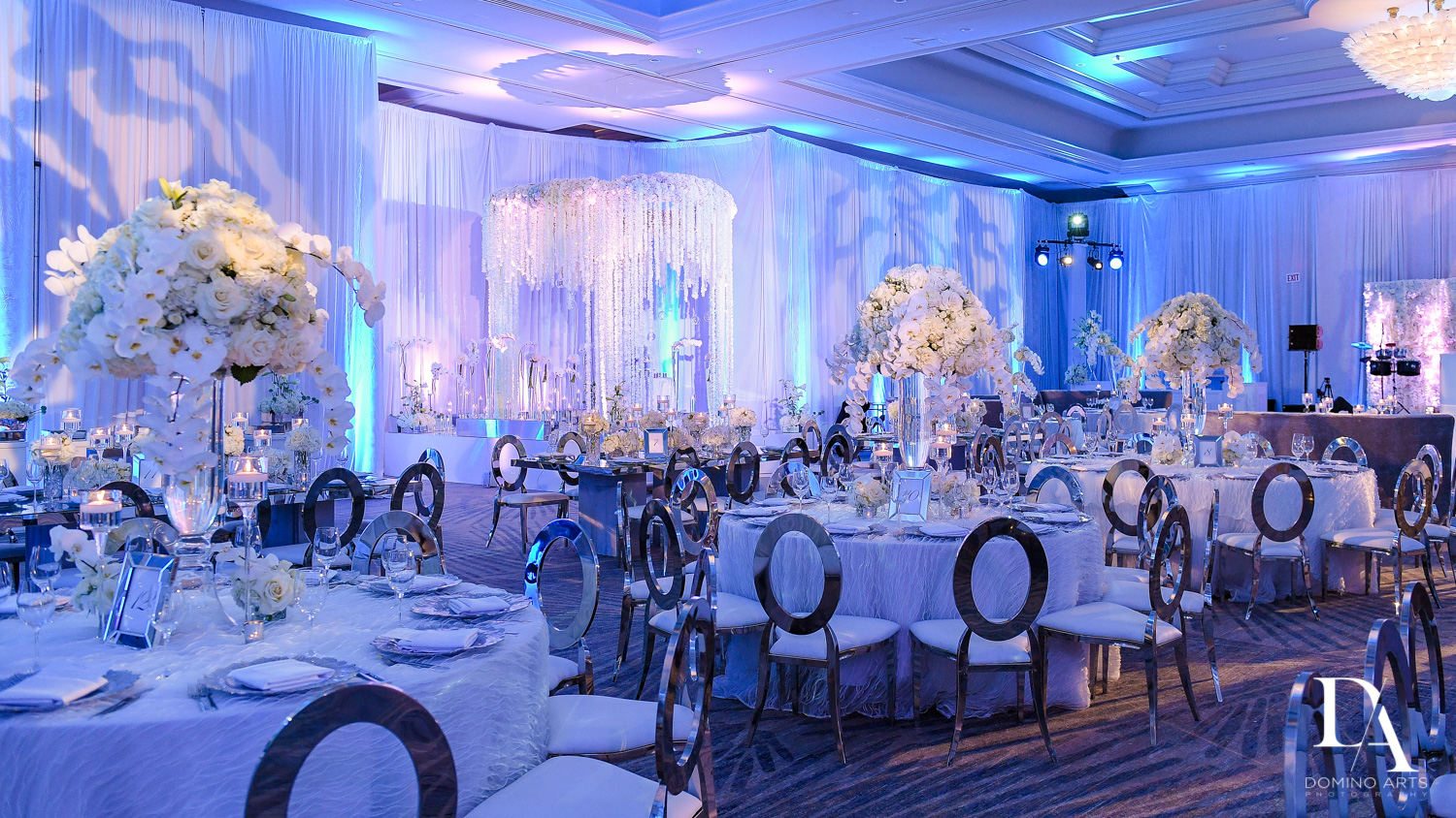 luxury wedding decor at Ultimate Events Wedding at Turnberry Isle Resort Miami by Domino Arts Photography