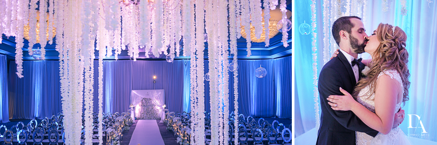 floral chuppah at Ultimate Events Wedding at Turnberry Isle Resort Miami by Domino Arts Photography