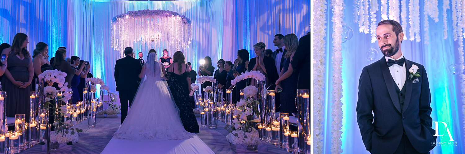 ceremony procession at Ultimate Events Wedding at Turnberry Isle Resort Miami by Domino Arts Photography