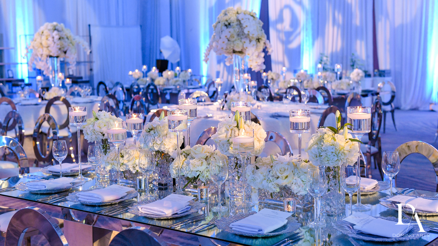 luxury floral decor at Ultimate Events Wedding at Turnberry Isle Resort Miami by Domino Arts Photography