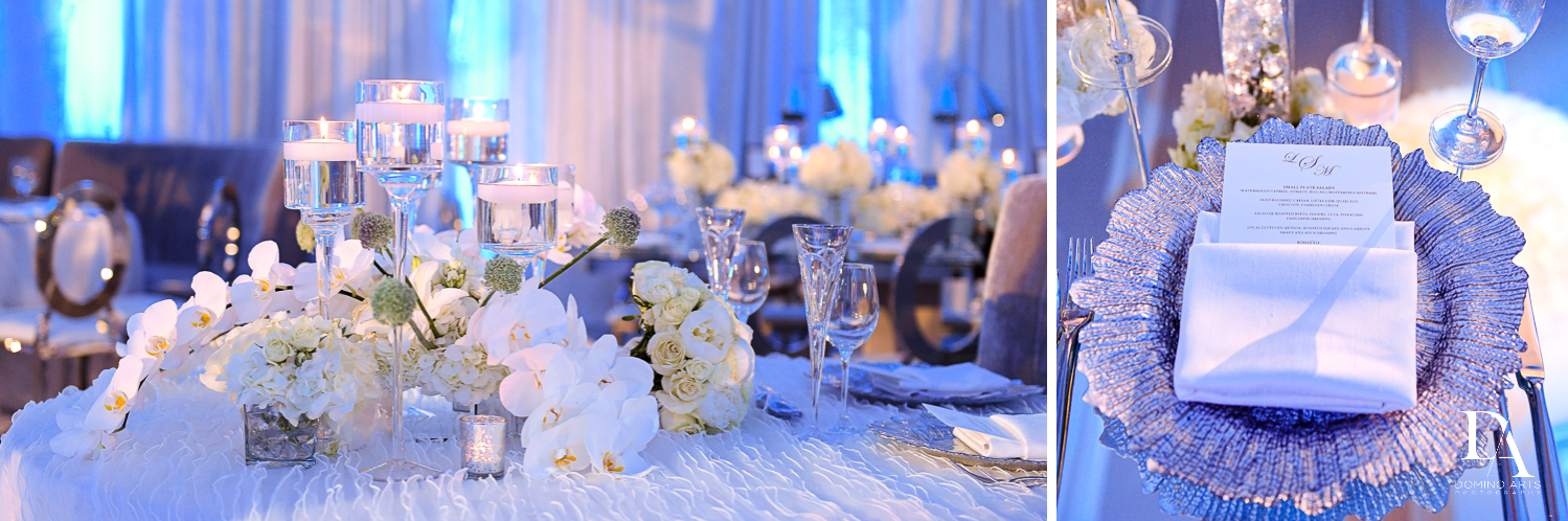 decor details at Ultimate Events Wedding at Turnberry Isle Resort Miami by Domino Arts Photography