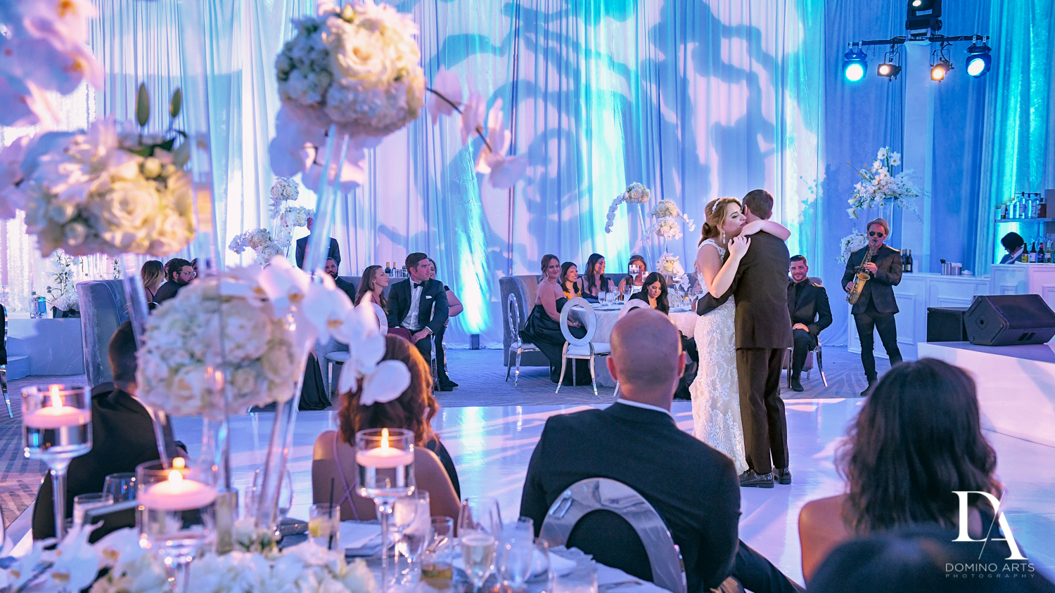 reception at Ultimate Events Wedding at Turnberry Isle Resort Miami by Domino Arts Photography