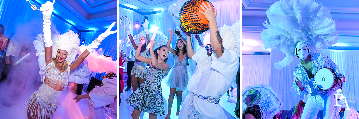 white party entertainers at Ultimate Events Wedding at Turnberry Isle Resort Miami by Domino Arts Photography