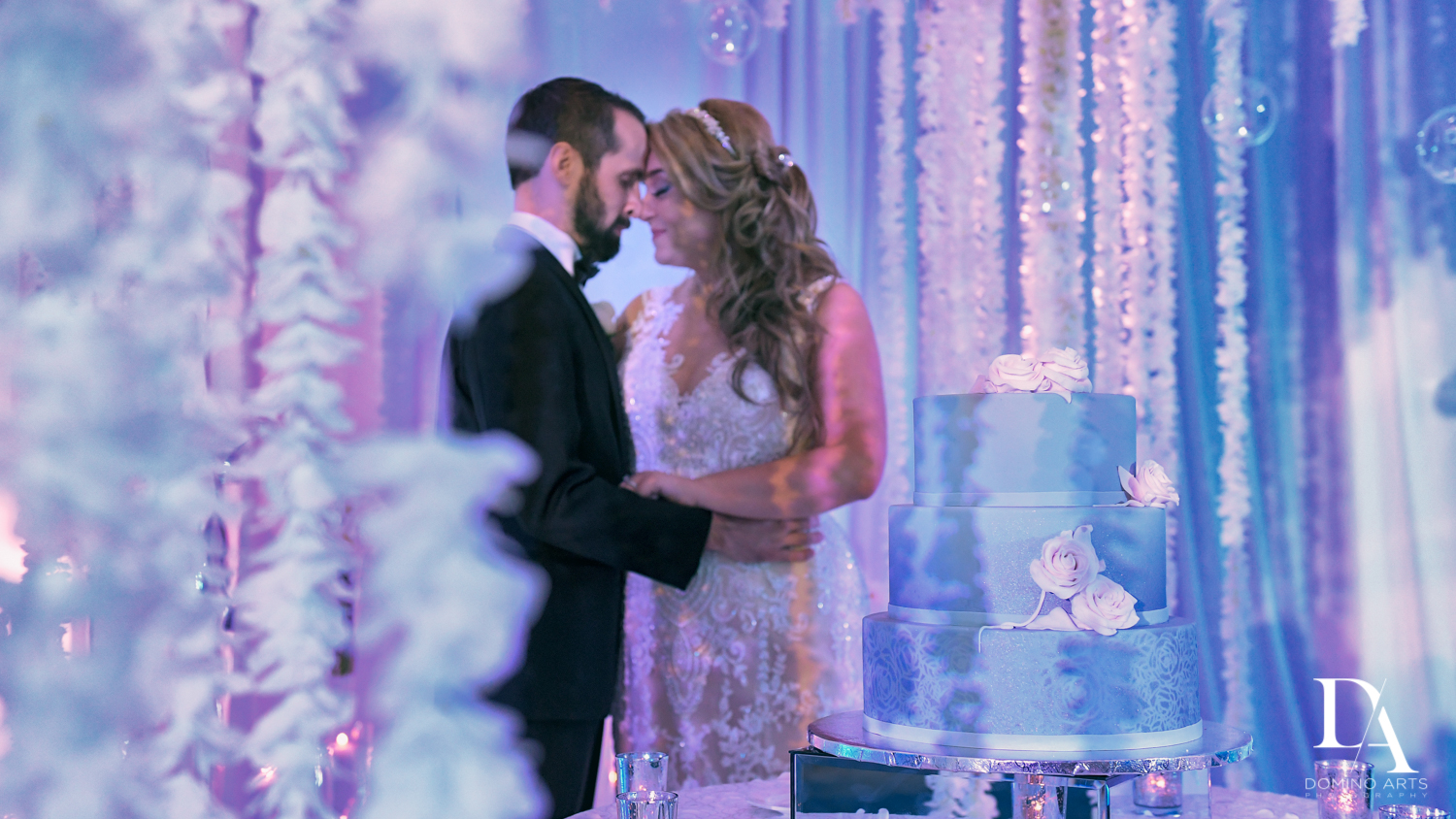 romantic cake picture at Ultimate Events Wedding at Turnberry Isle Resort Miami by Domino Arts Photography