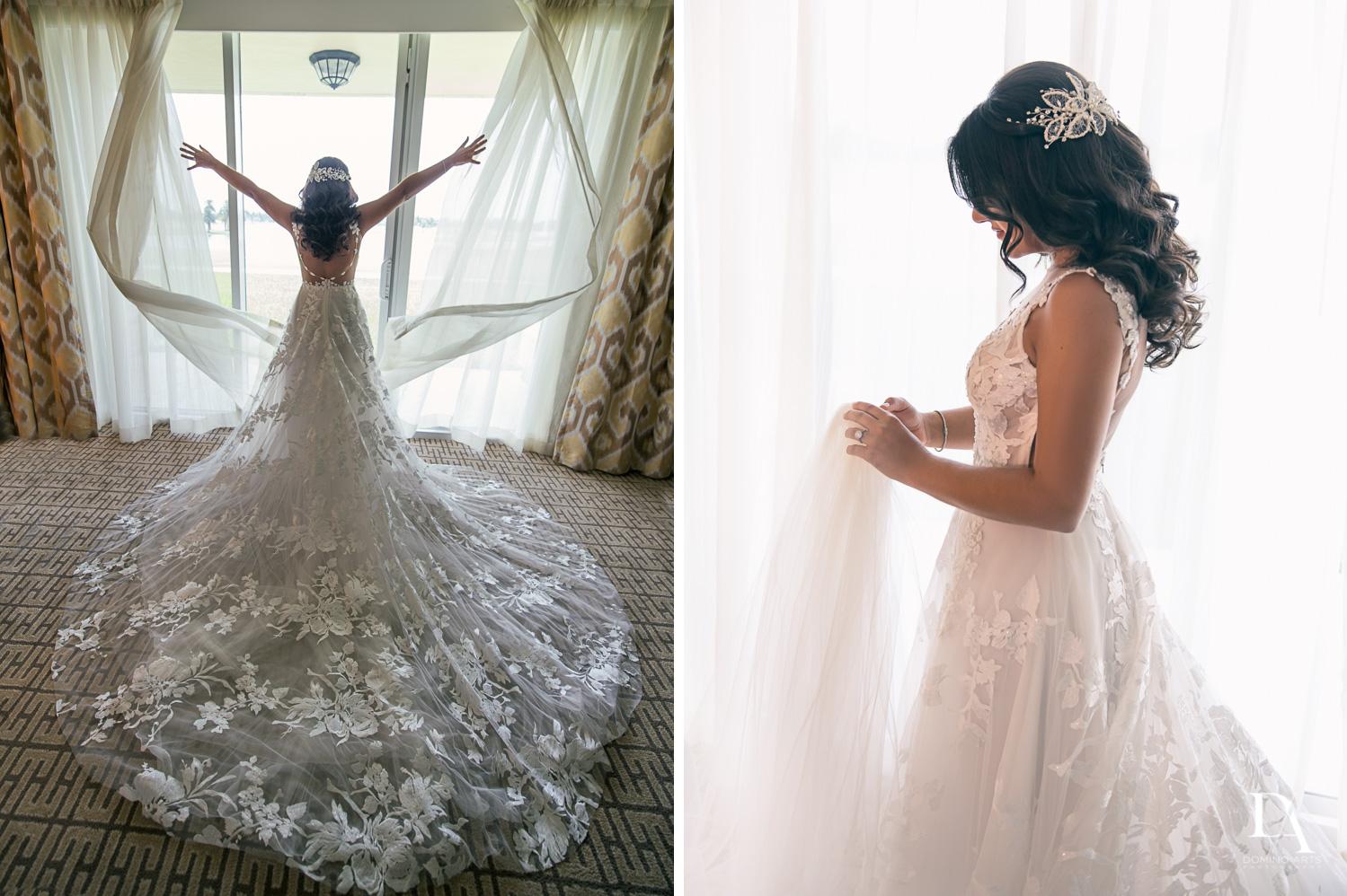 bride getting ready at Elegant Classy Wedding at Trump Doral by Domino Arts Photography