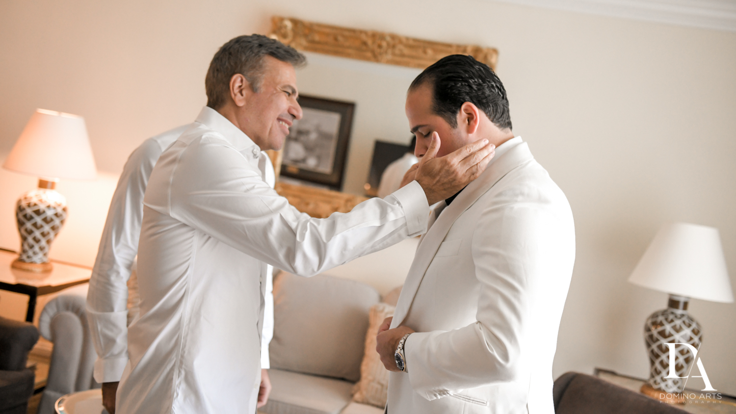 groom and father at Elegant Classy Wedding at Trump Doral by Domino Arts Photography