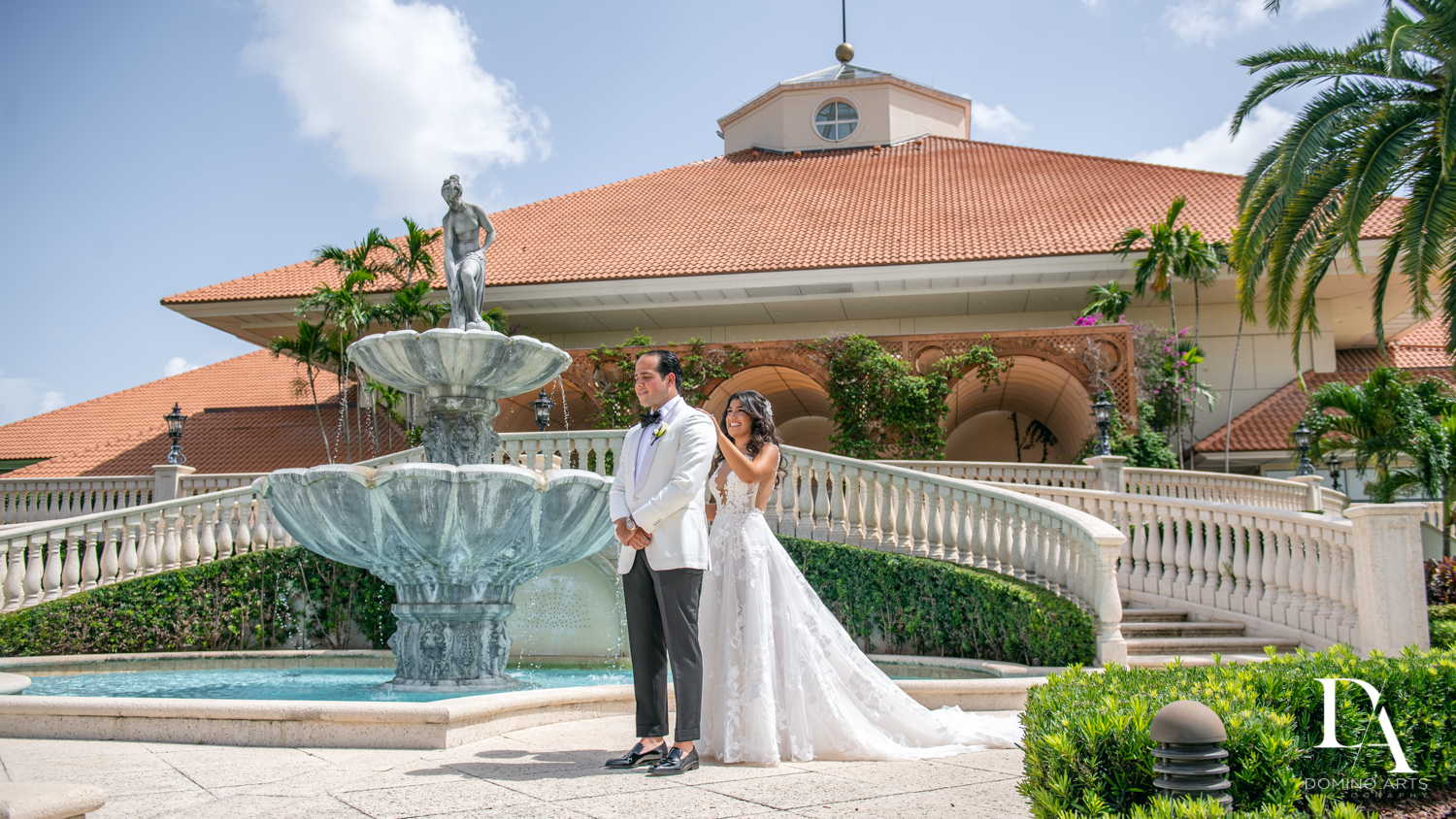 first look at Elegant Classy Wedding at Trump Doral by Domino Arts Photography