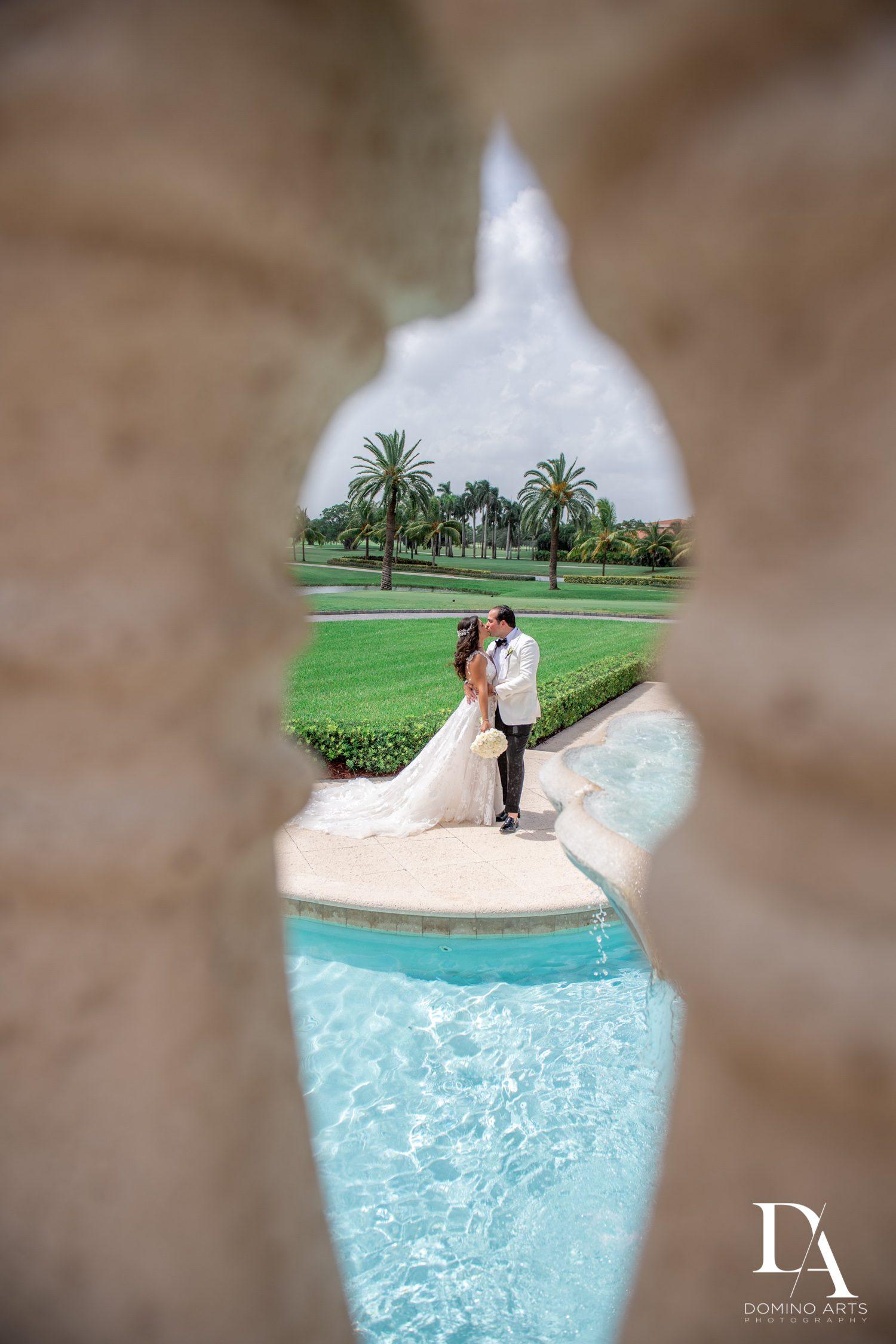 creative portrait at Elegant Classy Wedding at Trump Doral by Domino Arts Photography
