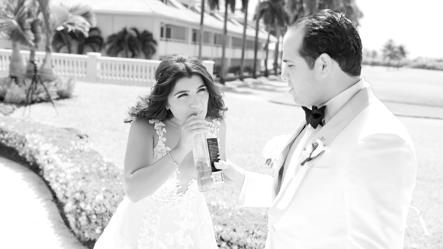 cute bride and groom at Elegant Classy Wedding at Trump Doral by Domino Arts Photography
