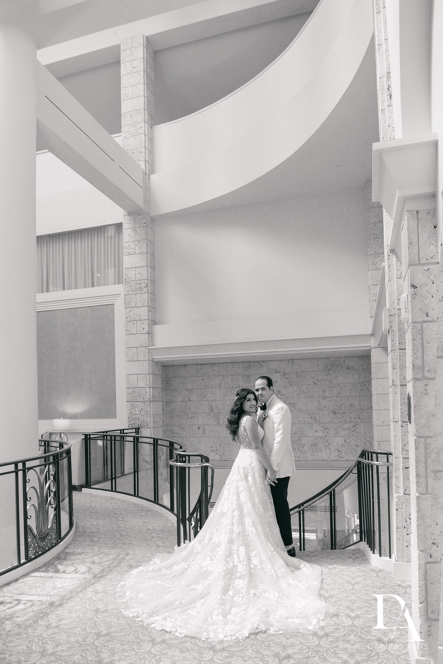 B&W pictures at Elegant Classy Wedding at Trump Doral by Domino Arts Photography