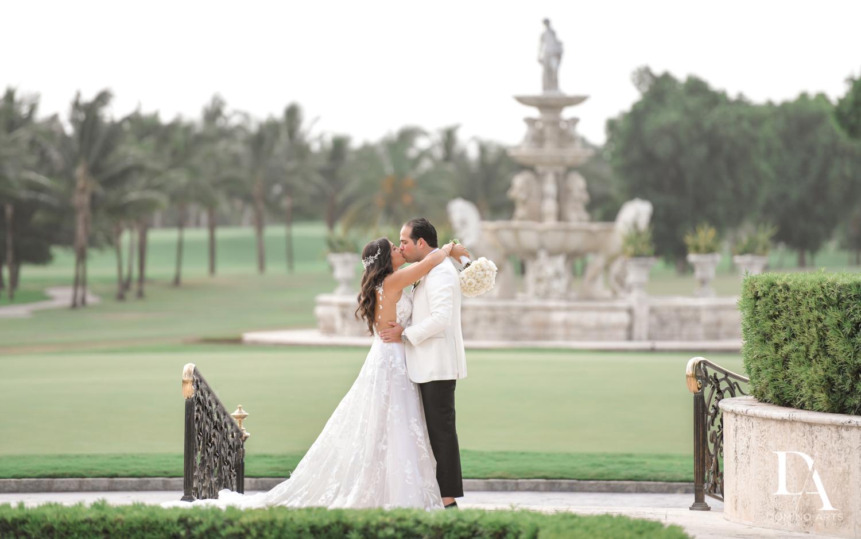 romantic couple at Elegant Classy Wedding at Trump Doral by Domino Arts Photography