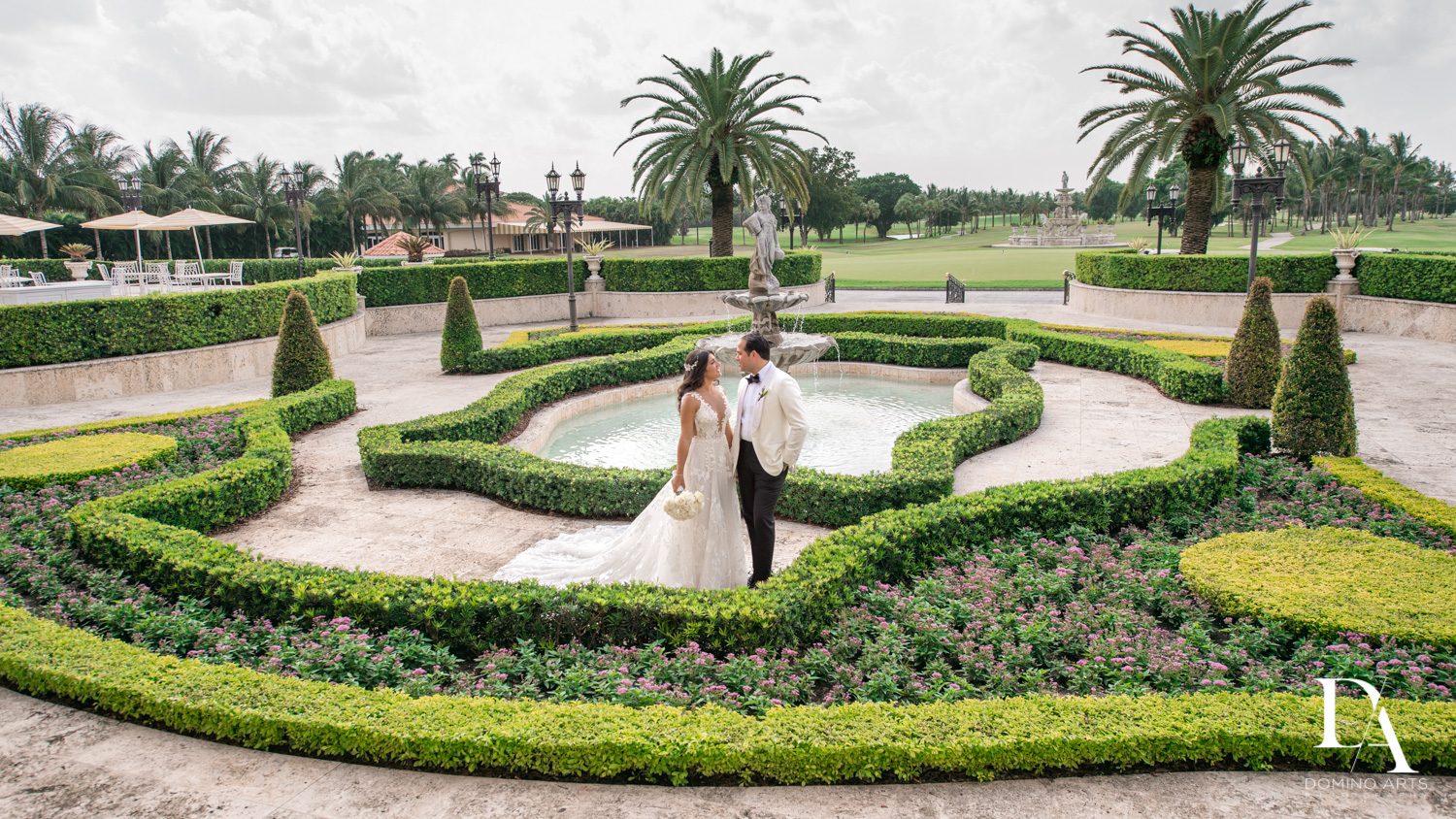 garden pictures at Elegant Classy Wedding at Trump Doral by Domino Arts Photography
