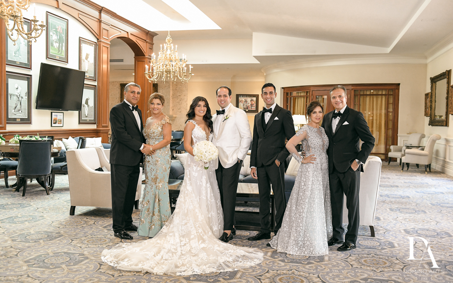 family pictures at Elegant Classy Wedding at Trump Doral by Domino Arts Photography