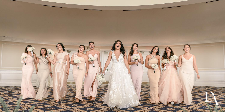 bridesmaids at Elegant Classy Wedding at Trump Doral by Domino Arts Photography