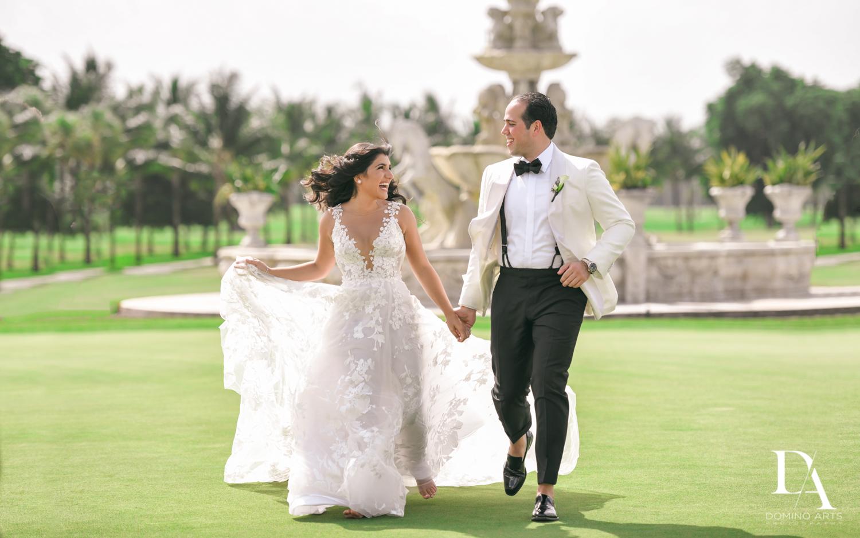 bride and groom at Elegant Classy Wedding at Trump Doral by Domino Arts Photography