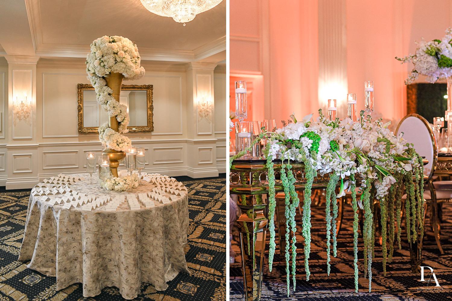 decor at Elegant Classy Wedding at Trump Doral by Domino Arts Photography
