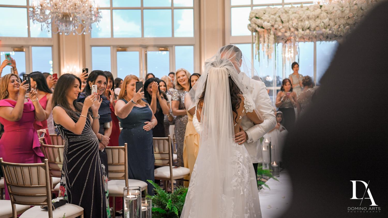 ceremony at Elegant Classy Wedding at Trump Doral by Domino Arts Photography
