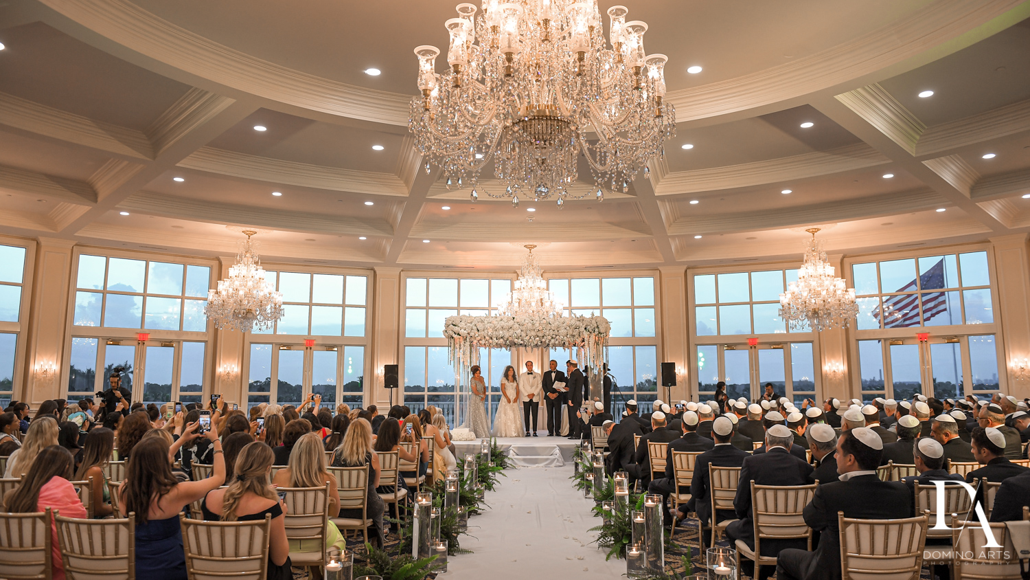 best ceremony venue at Elegant Classy Wedding at Trump Doral by Domino Arts Photography