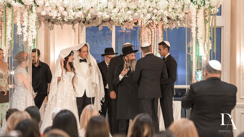 jewish ceremony at Elegant Classy Wedding at Trump Doral by Domino Arts Photography