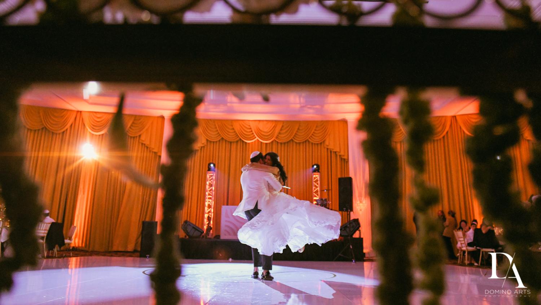 couple dancing at Elegant Classy Wedding at Trump Doral by Domino Arts Photography