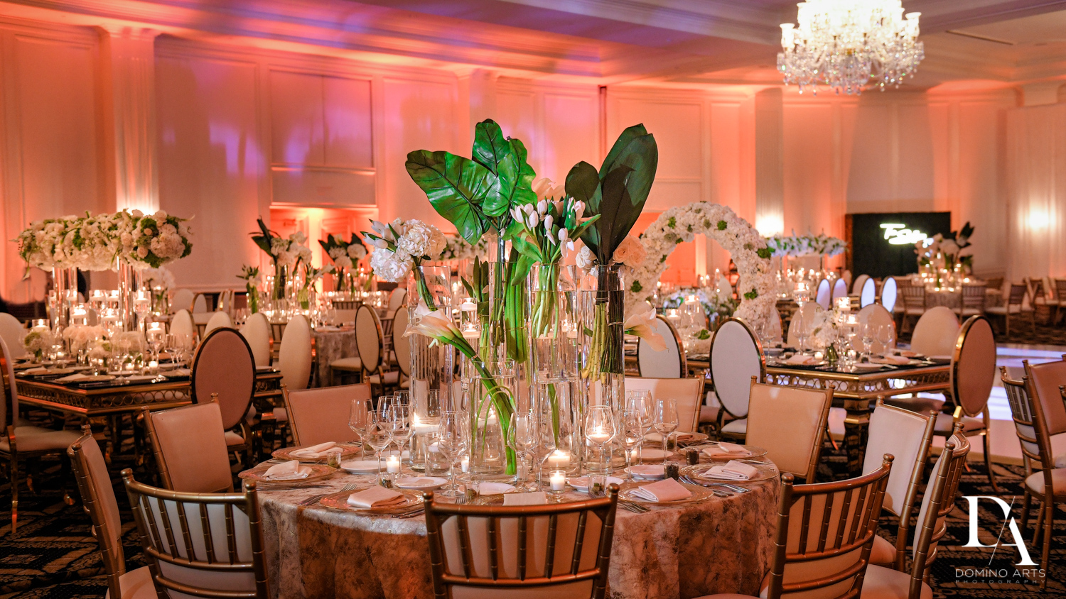 best decor at Elegant Classy Wedding at Trump Doral by Domino Arts Photography