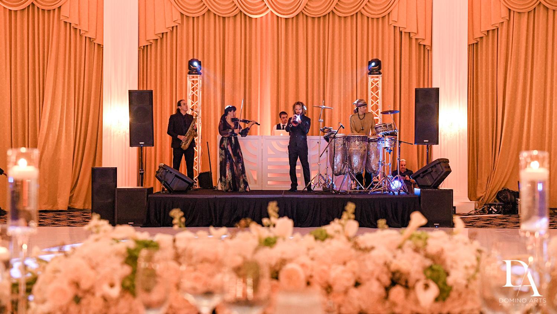 band at Elegant Classy Wedding at Trump Doral by Domino Arts Photography