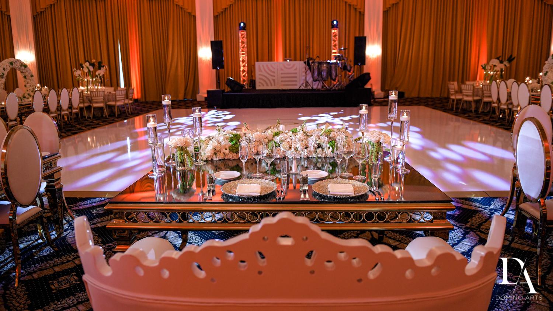 sweetheart table at Elegant Classy Wedding at Trump Doral by Domino Arts Photography