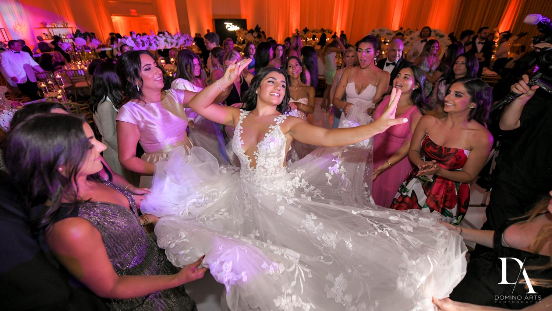 bride dancing at Elegant Classy Wedding at Trump Doral by Domino Arts Photography