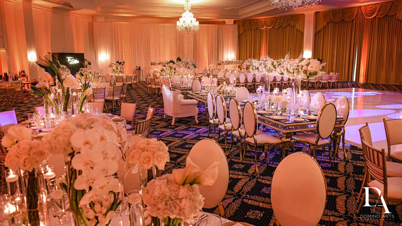 luxury decor at Elegant Classy Wedding at Trump Doral by Domino Arts Photography