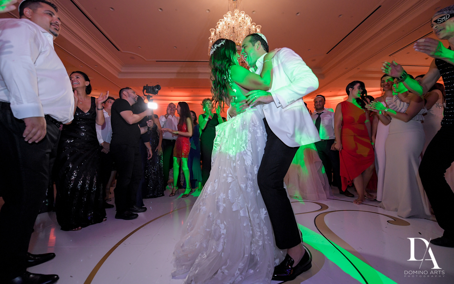 party pictures at Elegant Classy Wedding at Trump Doral by Domino Arts Photography