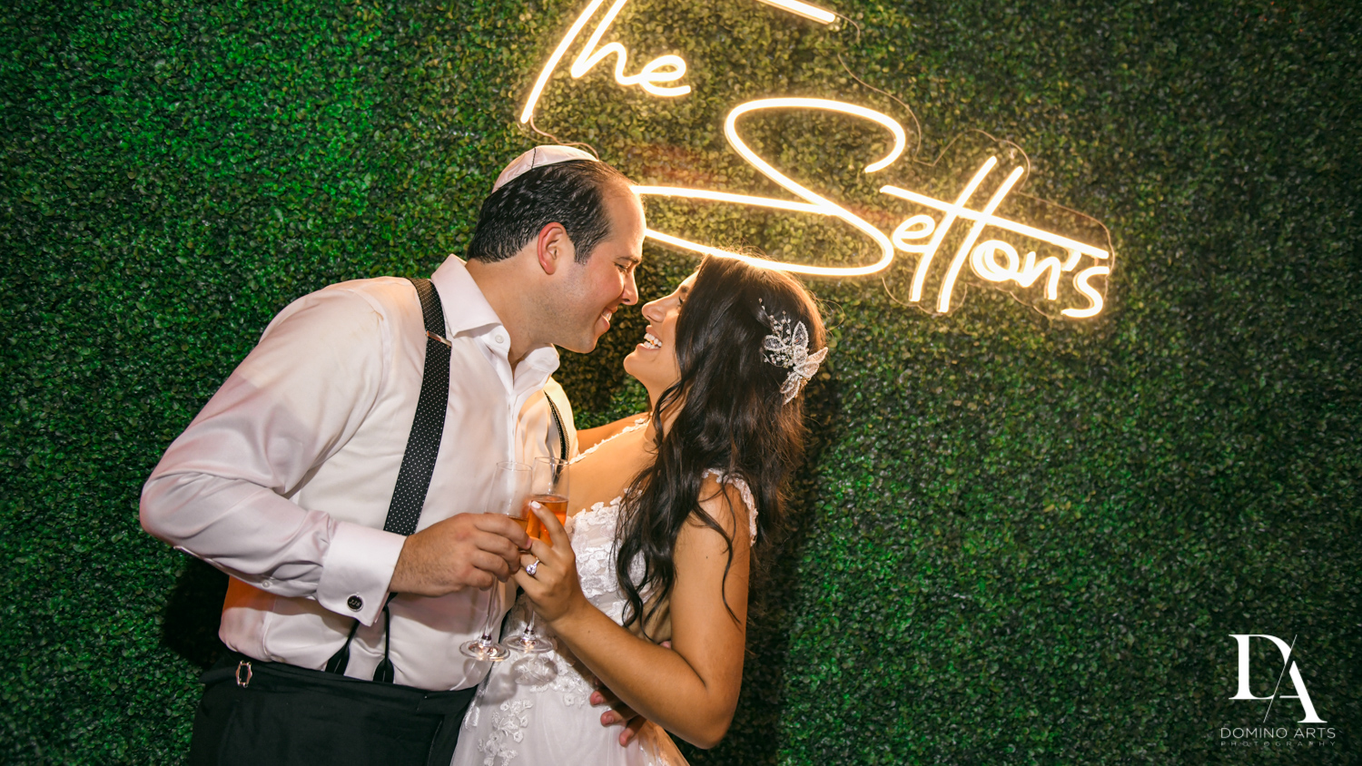 best bride and groom picture at Elegant Classy Wedding at Trump Doral by Domino Arts Photography