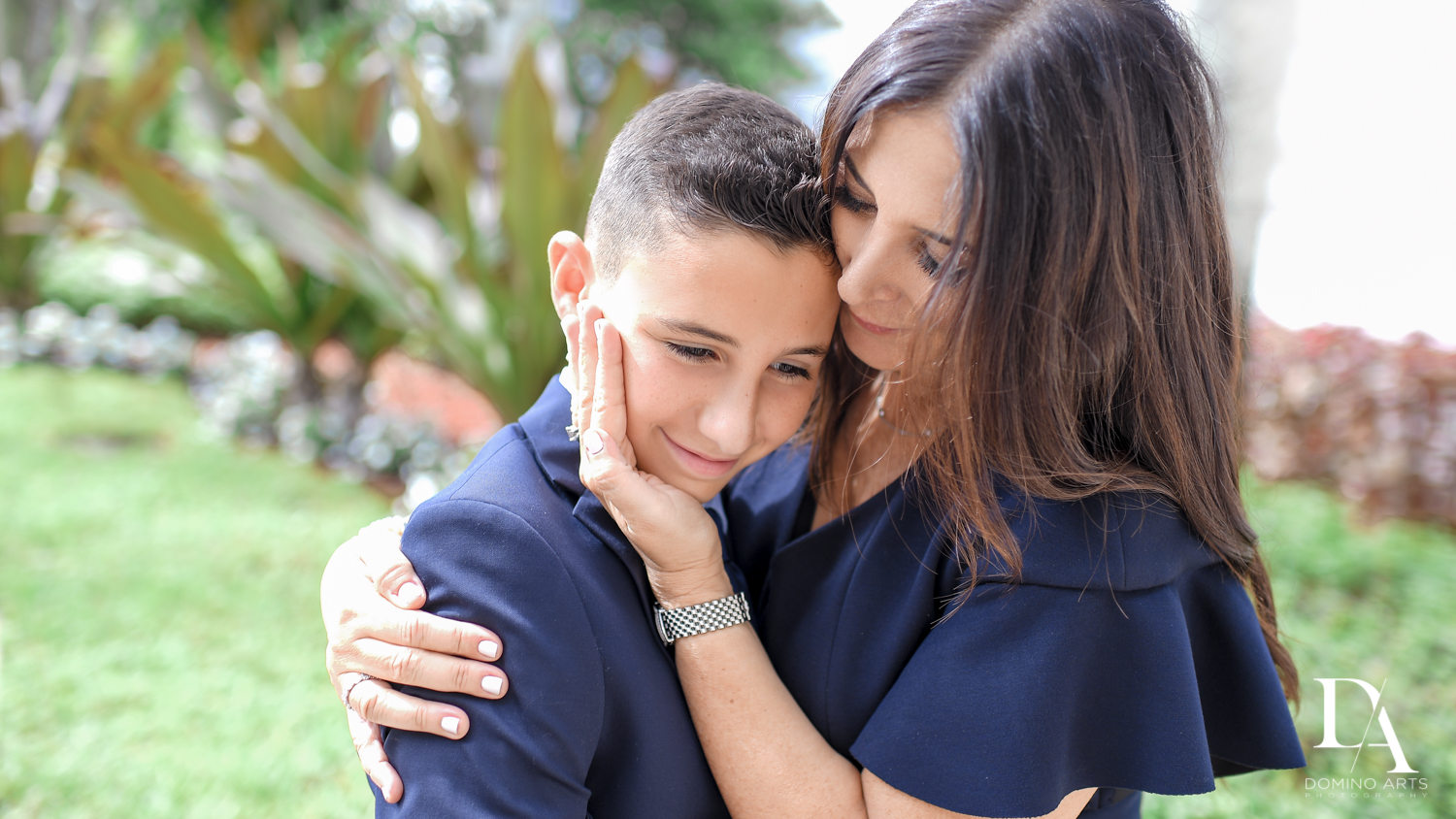 cute parent portraits at Sports Theme Bar Mitzvah at BNai Torah Boca