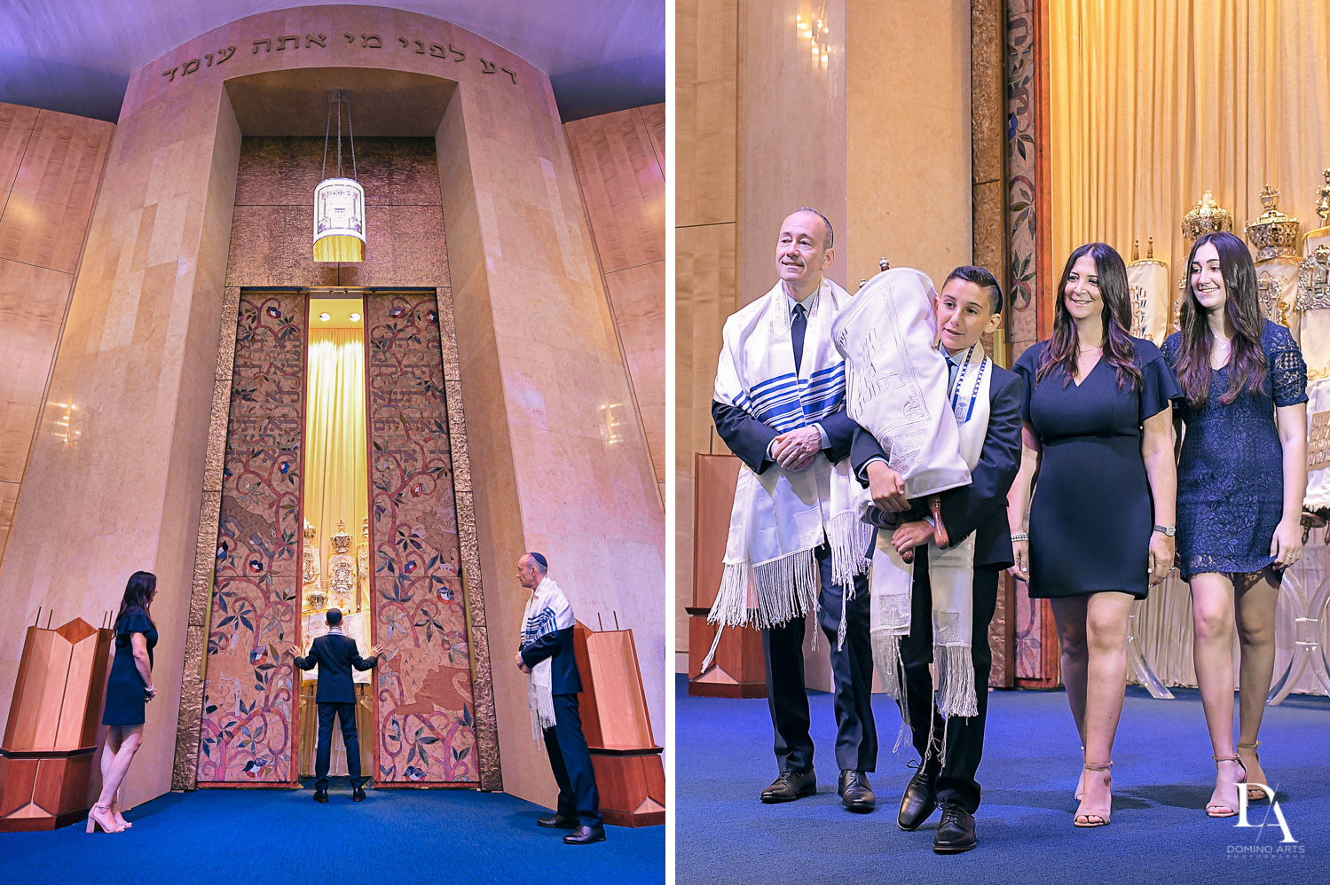 Ceremony at Sports Theme Bar Mitzvah at BNai Torah Boca