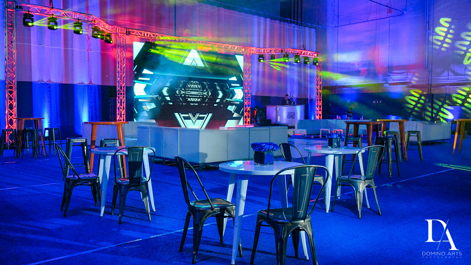 colorful decor at Sports Theme Bar Mitzvah at DS Sports Plex by Domino Arts Photography