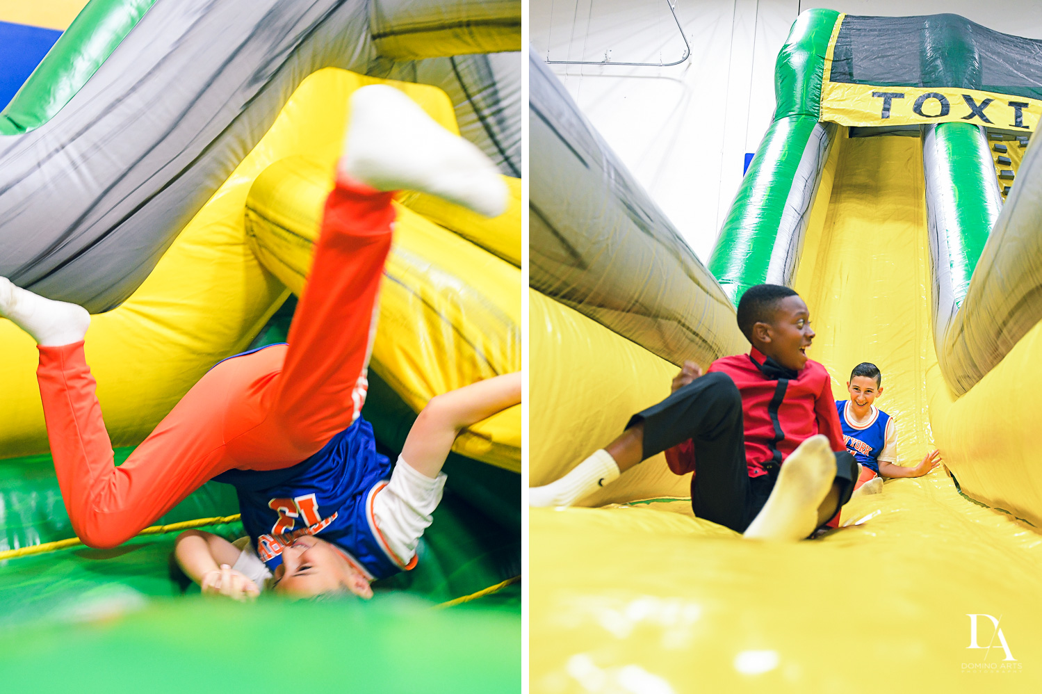 fun inflatables at Sports Theme Bar Mitzvah at DS Sports Plex by Domino Arts Photography