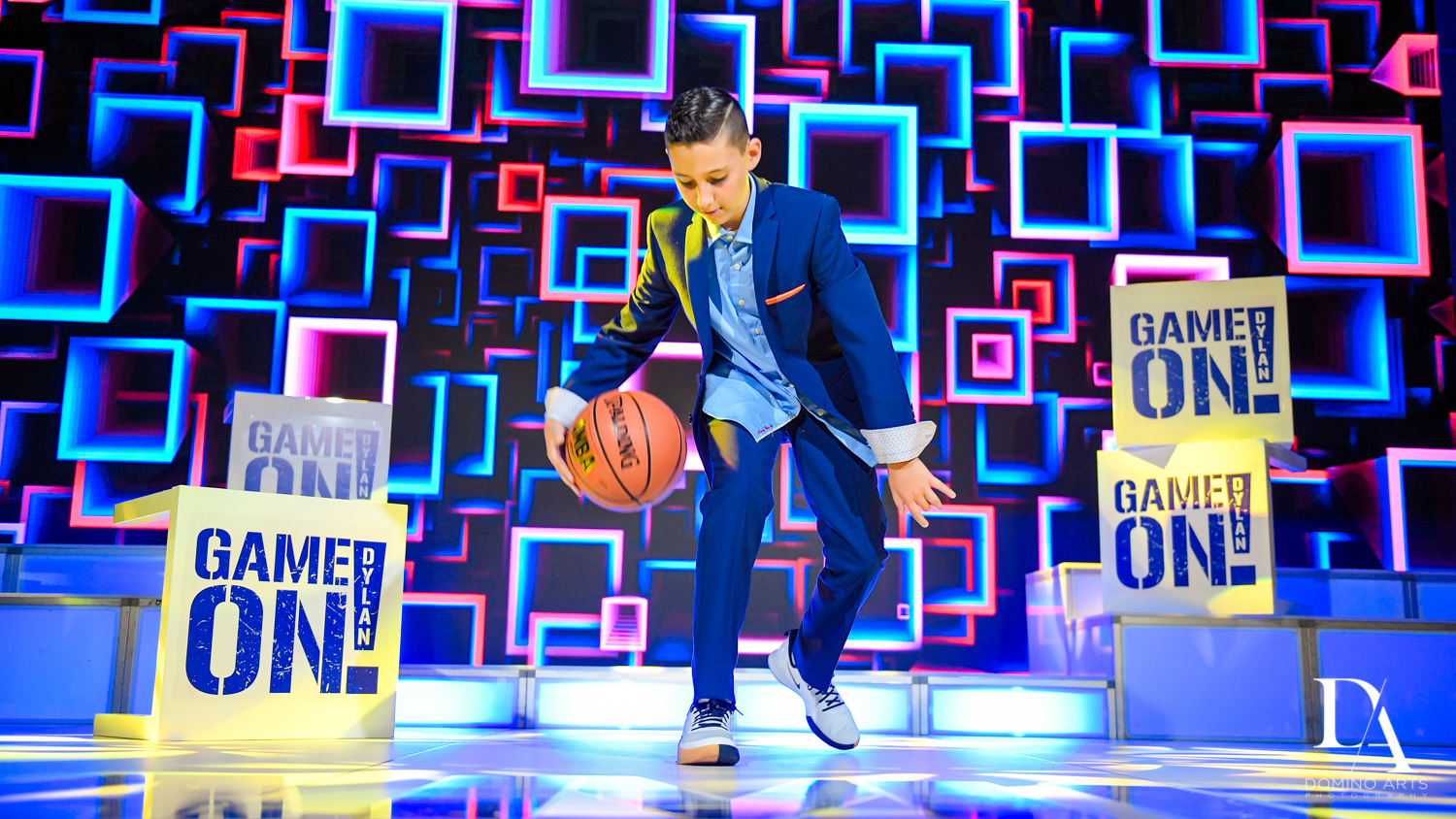 Basketball portraits at Sports Theme Bar Mitzvah at DS Sports Plex by Domino Arts Photography