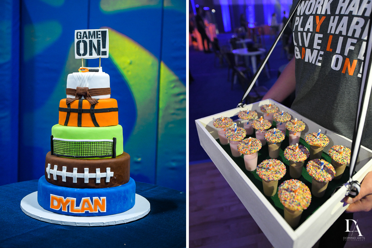 Best dessert at Sports Theme Bar Mitzvah at DS Sports Plex by Domino Arts Photography