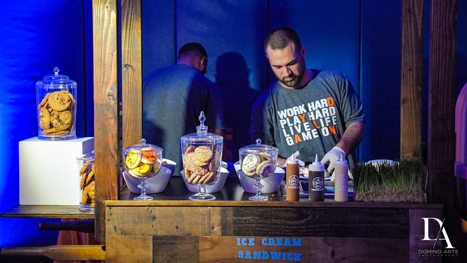 ice cream bar at Sports Theme Bar Mitzvah at DS Sports Plex by Domino Arts Photography