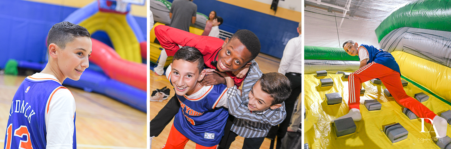 kids fun at Sports Theme Bar Mitzvah at DS Sports Plex by Domino Arts Photography