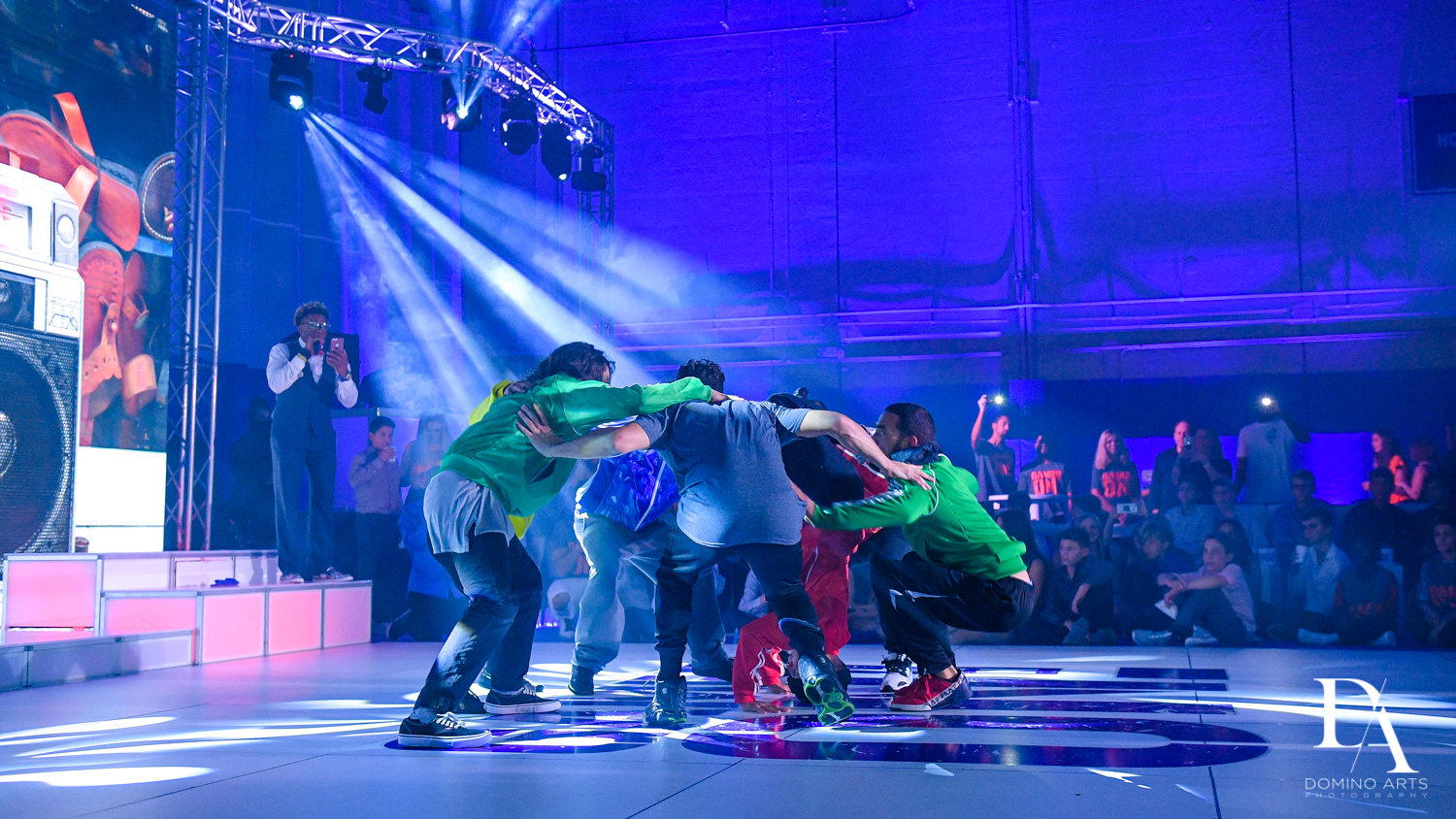 Bboys dance crew at Sports Theme Bar Mitzvah at DS Sports Plex by Domino Arts Photography