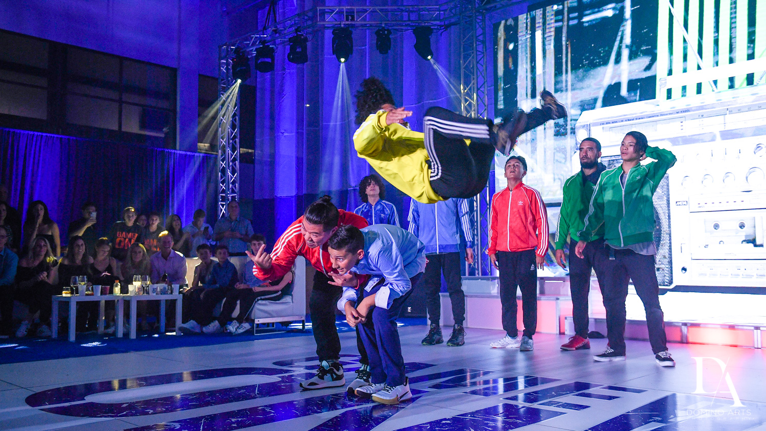 break dance show at Sports Theme Bar Mitzvah at DS Sports Plex by Domino Arts Photography