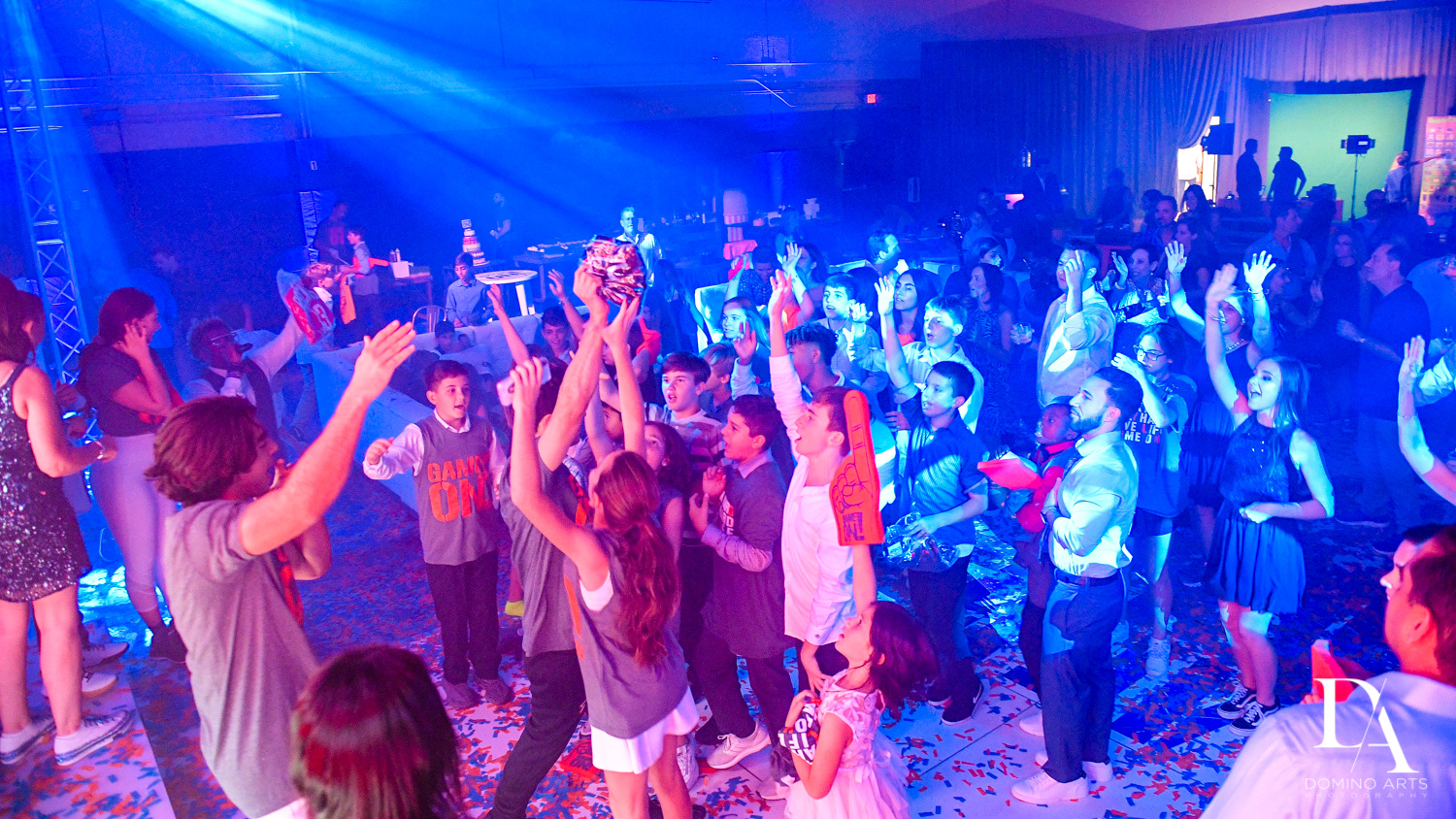 party pictures at Sports Theme Bar Mitzvah at DS Sports Plex by Domino Arts Photography