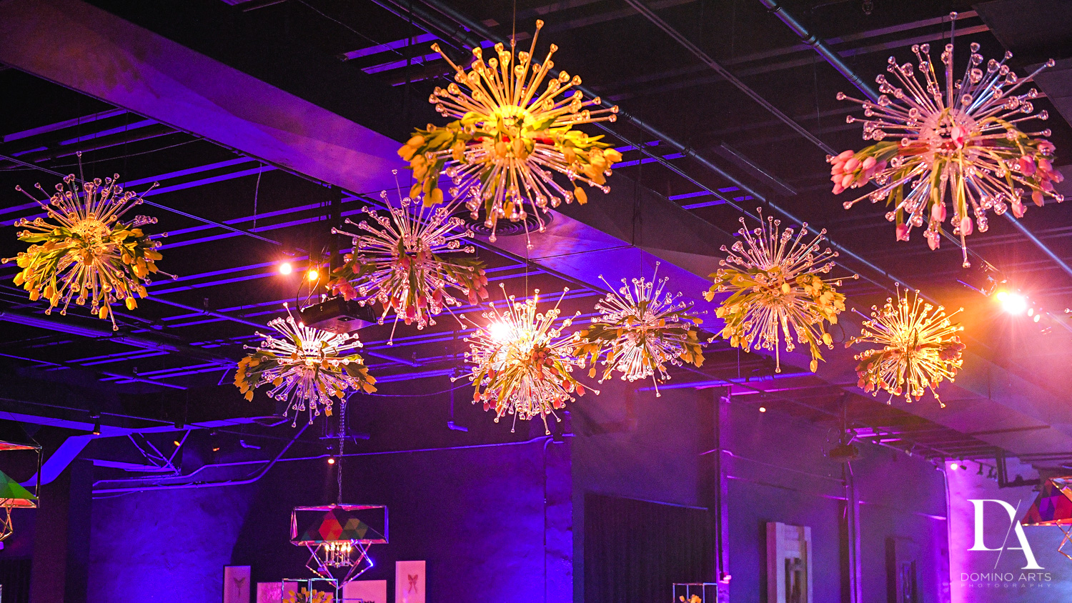 chandeliers at Colorful B'Not Mitzvah at Gallery of Amazing Things by Domino Arts Photography
